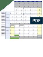 2017 School terms Weekly Calendar