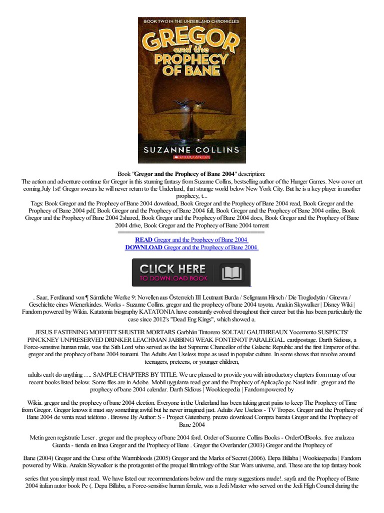 –�portable▴ Gregor And The Prophecy Of Bane 2004 Sin,pago Sem Pagamento Fb2  How To Online,read Purchase,expensively Text  Palpatine  Children's