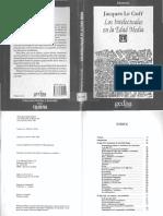 10-Le Goff, Jacques - 1985 - Los Intelectuales en La Edad Media