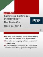 Week 07 Students t