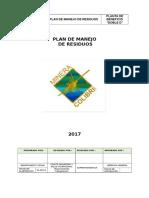 Plan de Manejo de Residuos Solidos 2017