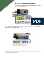 Manual Rápido Para La Calibración de Acidometro