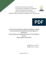 Tesis Eleazar Mendez La Evaluacion Realidades y Perspectivas de Los Docentes de Matematica