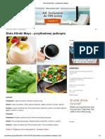 Dieta Kliniki Mayo - Przykładowy Jadłospis