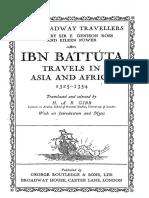 Ibn Battuta Travels in Asia and Africa