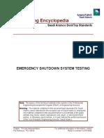 Emergency Shutdown System Testing