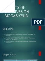 Effects of Additives on Biogas Yeild