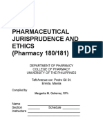 Pharmaceutical Jurisprudence and Ethics Manual