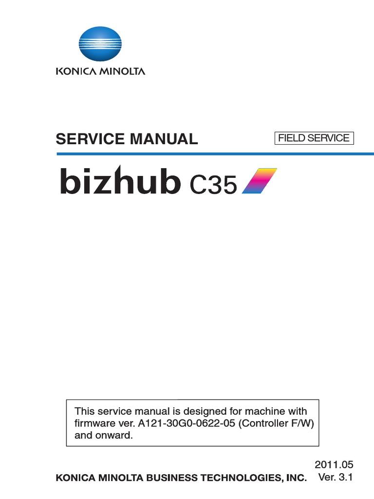Konica Minolta Bizhub C35 Service Manual | Ac Power Plugs And Sockets |  Electrical Connector