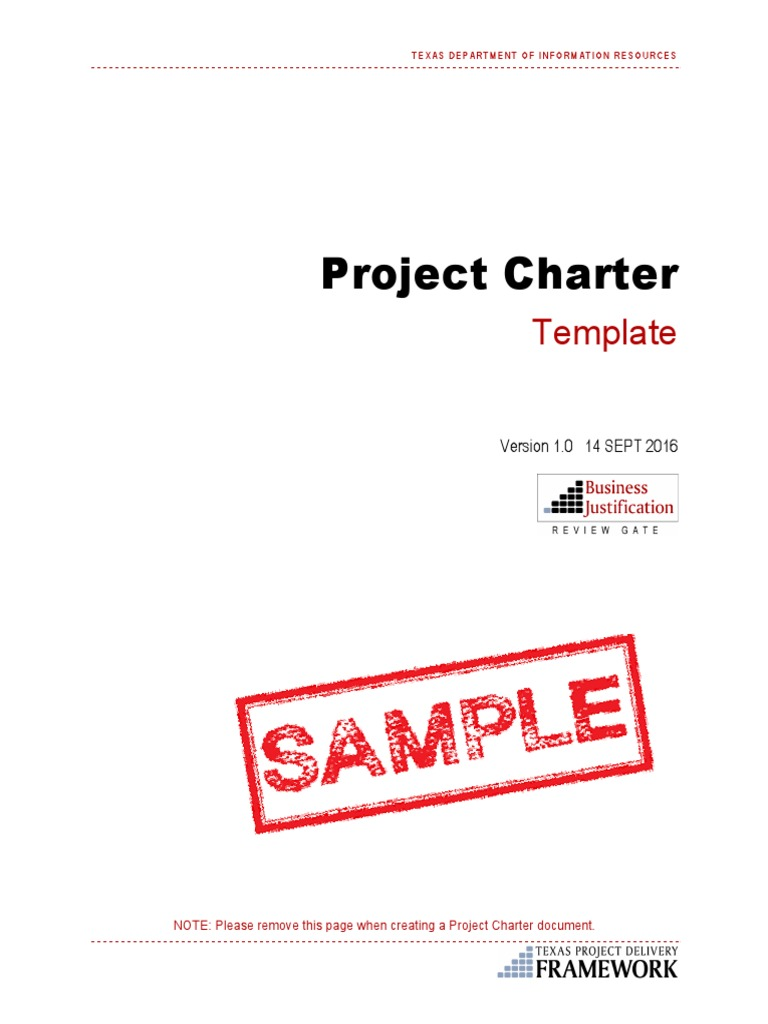 Sample Project Charter 01 Project Management Computing