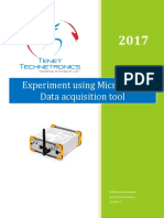 Experiment Using MicroDAQ-Data Acquisition Tool