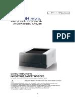 Sindoh A400 Series Manual