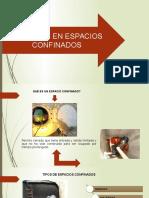 TRABAJOS EN ESPACIOS CONFINADOS Y ALMACENAMIENTO Y MANIPULEO DE MATERIALES