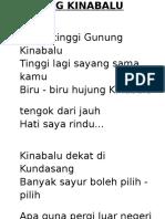 Sayang Kinabalu 1