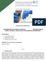 Dosaje Etilico Metodo Microdifusion