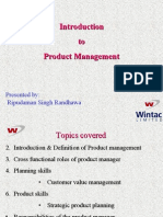 An overview of product management