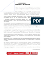 Déclaration du PCF Essonne
