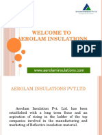 Aerolam insulations | Insulation Material Manufacturer