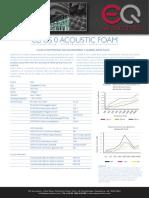 EQ Acoustics Class 0 Foam Datasheet