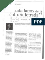 Ferreiro Ciudadanos de La Cultura Letrada