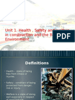 1.Health, Safety and Welfare
