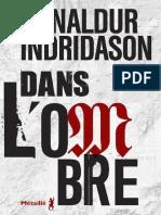 Indridason Arnaldur - Dans l'Ombre (2fév2017)