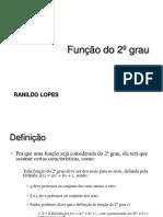 Função do 2° grau EXEMPLOS CALCULOS FACET RANILDO