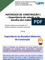 Aula 2 Estudo Dos Materiais
