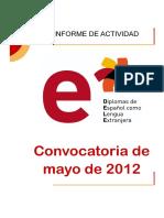 Dele Informe Convocatoria Mayo 2012