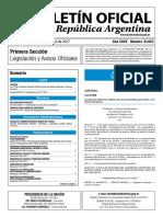 Boletín Oficial de la República Argentina, Número 33.623. 12 de mayo de 2017