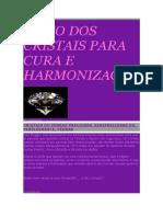 o Uso Dos Cristais Para Cura e Harmonização