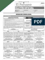 Diario Oficial El Peruano, Edición 9694. 13 de mayo de 2017