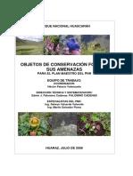 Informe Objetos de Conservación PNH