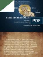 Ciril Din Ierusalim (315-387)