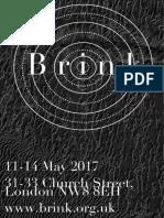 Brink Launch Exhibition Catalogue