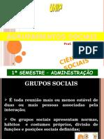 AGRUPAMENTOS SOCIAIS