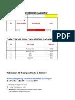 Data Teknis FCU Studio 2