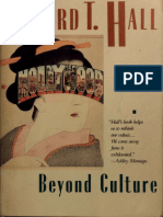 Hall Edward T Beyond Culture