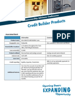 Credit Builder Products