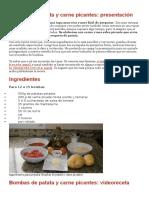 Bombas de Patata y Carne Picantes