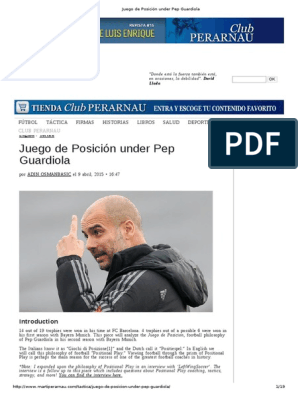Juego de Posición Under Pep Guardiola | Forward (Association