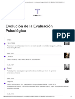 Línea Del Tiempo Evolución de La Evaluación Psicológica
