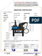 Calibration Cert