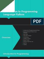 Introduction Python