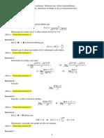Exercices corrigés (Limites, continuité, dérivabilité)