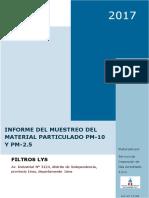 Informe Del Muestreo de Material Particulado Pm10 y Pm2.6 en Filtros Lys-preliminar