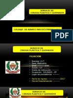 CASO CLÍNICO ( CIRUGÍA PLÁSTICA ) - Cirugía Colgajo Fasciocutáneo ( HOSP MILITAR CENTRAL - PERÚ )