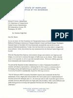 Governor Hogan Letter to Huerta NextGen