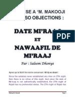 Réponse à M. Makooji lors Namâz Nawâfil Mi'râj li Hadiith Dwa'iif et Date Mi'râj pas authentique