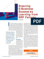 Ensuring E-business Success by Learning From ERP Failures